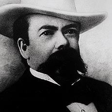 Jack Daniel, shown here, was born. The date is unknown and the year was likely 1850, though that is disputed. (Source: Wikimedia Commons)