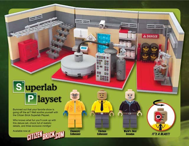 The play set comes with three 'Breaking Bad' inspired characters and 500 pieces. (Source: Citizen Brick/Facebook)