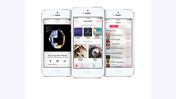 iRadio, a potential competitor with Pandora, will roll out on Sept. 18 along with the iOS 7 update. (Source: Apple, Inc.)