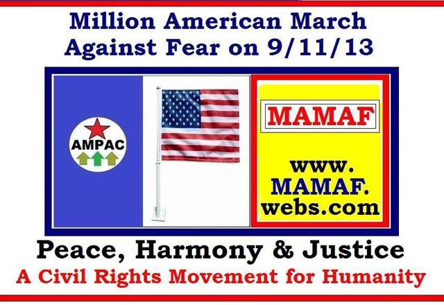 "The group Million American March Against Fear termed its event ""a civil rights movement."" (Source: MAMAF/Facebook)"