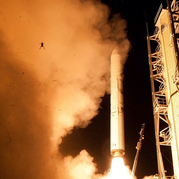 The image was captured by remote observation cameras of the launch, an official confirmed. (Source: NASA)