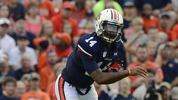 Nick Marshall delivered his first signature win as quarterback of the Tigers on Saturday night. (Source: Todd J. Van Emst/Auburn Athletics)