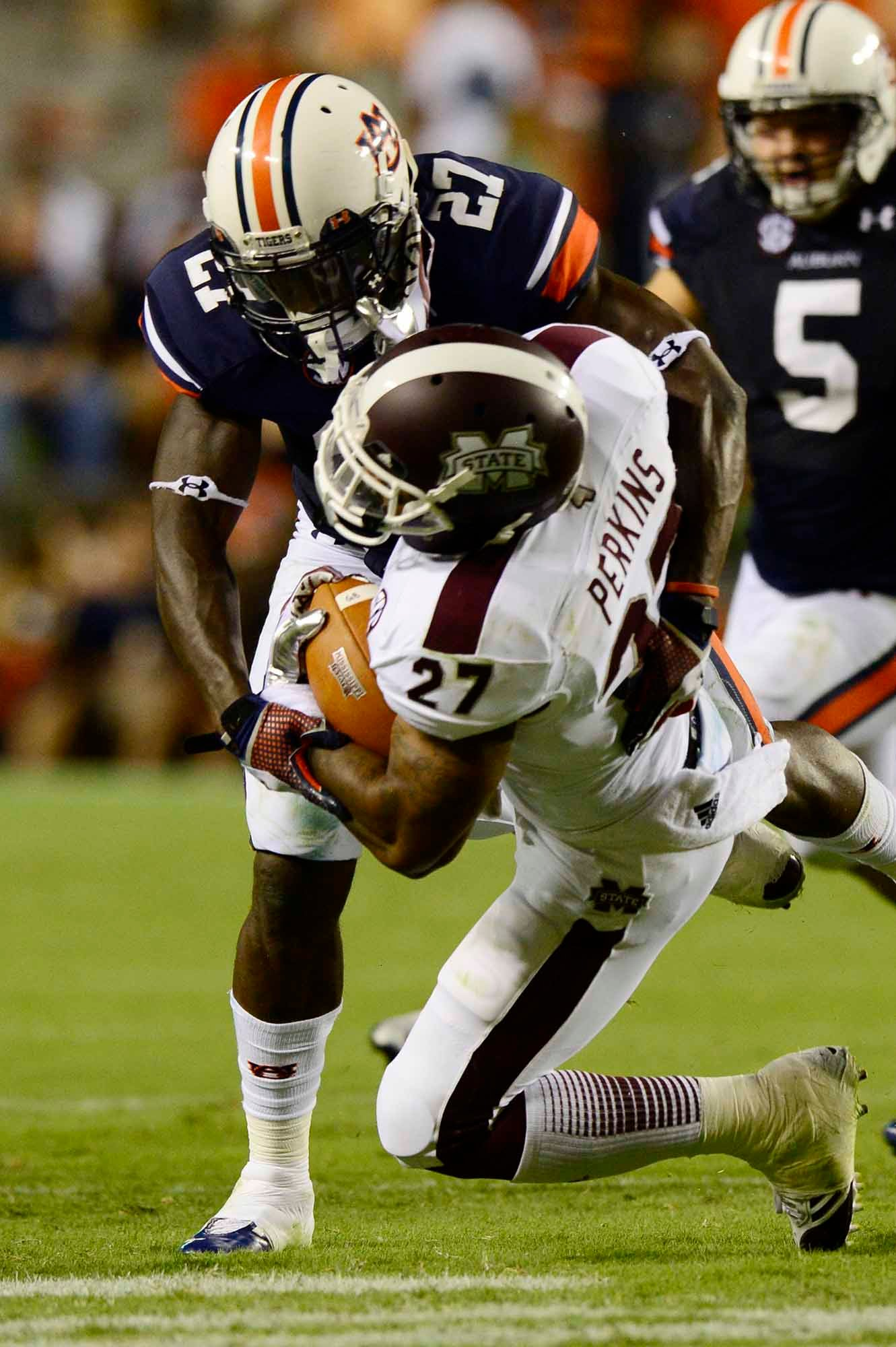 Mississippi State's offense is reeling from the loss of quarterback Tyler Russell. (Source: Todd van Emst/Auburn University)