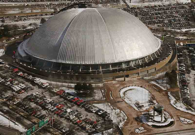 Civic Arena in Pittsburgh was the first retractable dome stadium. (Source: Wikimedia Commons)