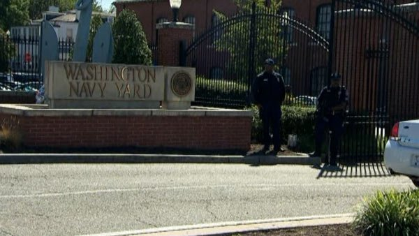 The Washington Navy Yard, site of Monday's mass shooting where 13 died, including the gunman, remained closed Wednesday. (Source: CNN)