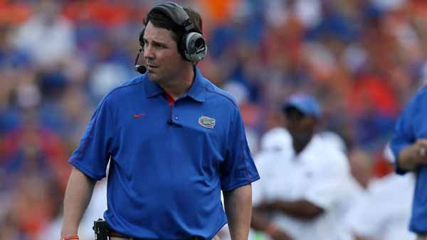 Will Muschamp strides the sidelines searching for answers to the challenges posed by the interlopers from the land of the Volunteer. (Source: UF Communications)