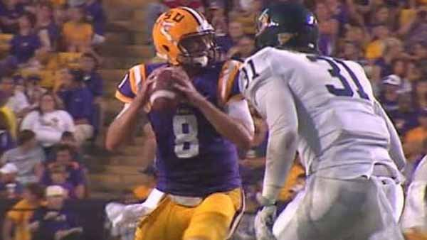 LSU's much improved QB Zach Mettenberger will attempt to exploit Auburn's defense, which has been vulnerable to the pass this year. (Source: WAFB)
