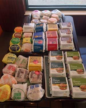 Chipman ordered 43 sandwiches, breakfast sandwiches included, in one sitting. (Source: Dude Foods)
