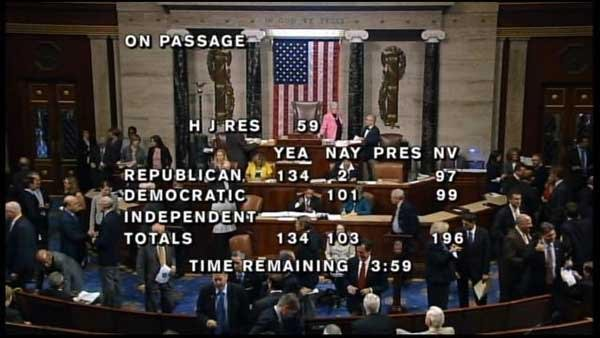 A House vote that fell alon