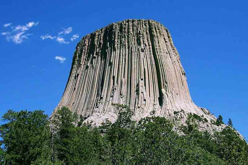 Devils Tower, shown here, was the first national monument. (Source: Wikimedia Commons)