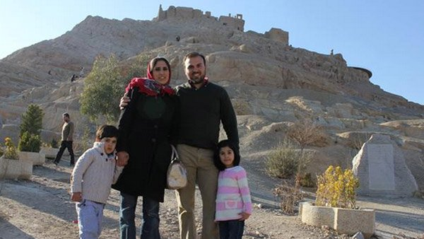 Saeed Abedini with his wife Nagmeh and his children. (Source: ACLJ)