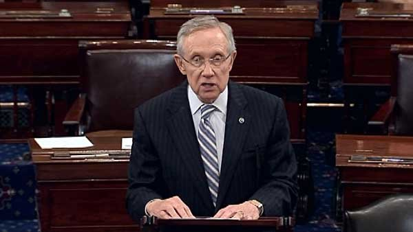 Sen. Harry Reid and McConnell worked on a deal late Tuesday and early Wednesday after another House measure failed. (Source: CNN)