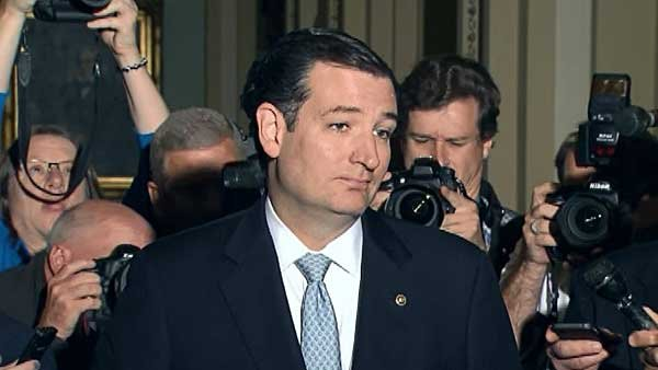 Sen. Ted Cruz, R- TX, lead the charge for a new budget bill to defund Obamacare. (Source: CNN)