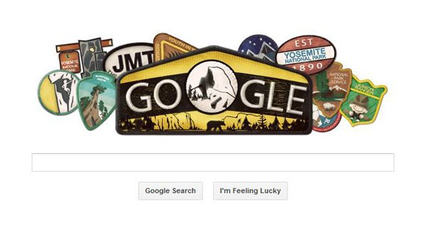 Google paid tribute to Yosemite National Park on the anniversary of the park's creation. (Source: Google)