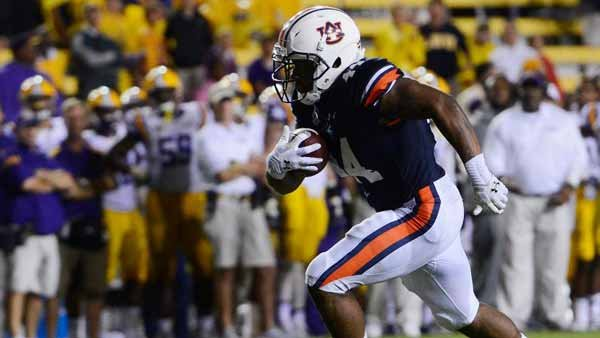 Cameron Artis-Payne brings a physical element to the Auburn run game. He has about 207 yards on 42 carries this year. (Source: Todd Van Emst/Auburn Athletics)