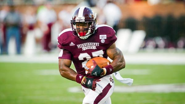 LaDarius Perkins is far off his 1,000-yard pace from a season ago, but the Bulldogs need him to avoid losing their 14th straight game against LSU. (Source: Mississippi State Athletics)