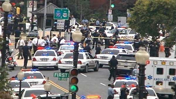 Police are responding to shots fired at the U.S. Capitol. (Source: CNN)