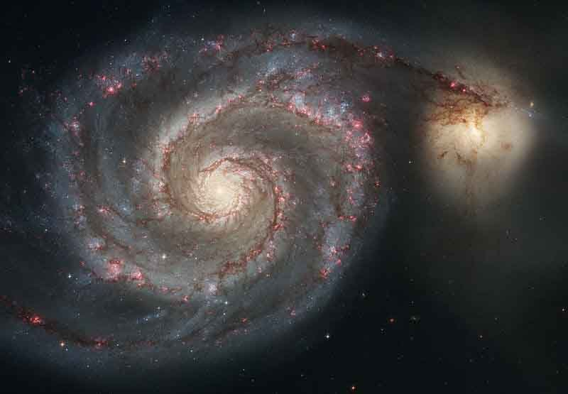 The Whirlpool Galaxy, shown here, was discovered Oct. 13, 1773. (Source: NASA/Wikimedia Commons)