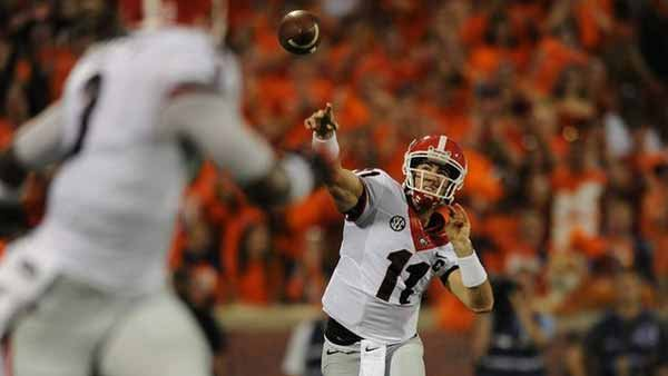 Here is Aaron Murray being awesome. He will have a chance to be really awesome Saturday against Missouri's flaky secondary. (Source: UGA Athletics)