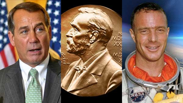 The continuing partial government shutdown, the announcement of the Nobel Prize winners and the death of one of the first astronauts all caught our eye this week.