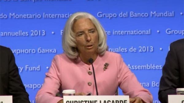IMF Director Christine Lagarde warns dire consequence if the U.S. doesn't raise the debt ceiling. (Source: CNN)