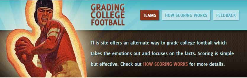 Colin MacGuire's website has been in operation for four years. (Source: gradingcollegefootball.com)