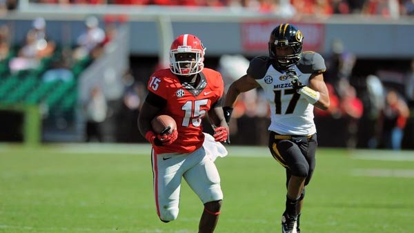 J.J. Green (15) wasn't a name many people knew until Todd Gurley and Keith Marshall went down with injuries. (Source: John Kelley/Georgia Athletics)