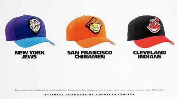 This poster, created in 2001, is making the rounds on the internet as debate about changing the Washington Redskins name continues to heat up. (Source: Devito/verdi)