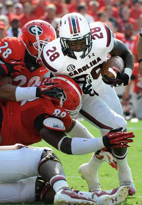 South Carolina running back Mike Davis will be an important player if the Gamecocks are to upset Missouri this week. (Source: South Carolina Athletics)