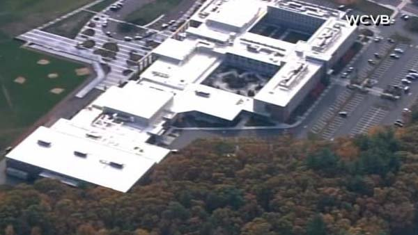 A teacher was found dead at Danvers High School in Danvers, MA, near Boston. A 14-year-old student has been arrested. (Source: WCVB/CNN)