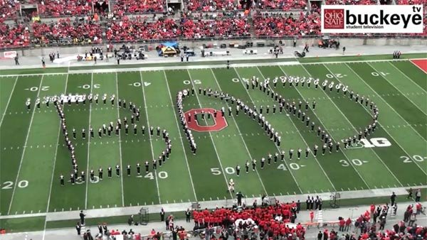 The Ohio State Marching Band executed a stellar performance on a show dedicated to the late King of Pop. (Source: Buckeye TV/Ohio State University/YouTube)