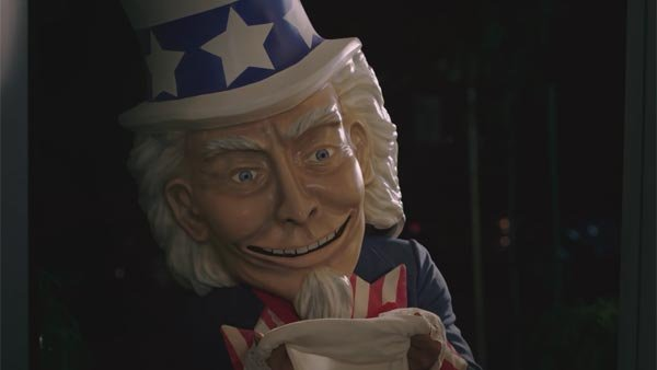 Creepy Uncle Sam is here for your candy - and to force Obamacare on millennials, according to Generation Opportunity. (Source: Generation Opportunity/YouTube)