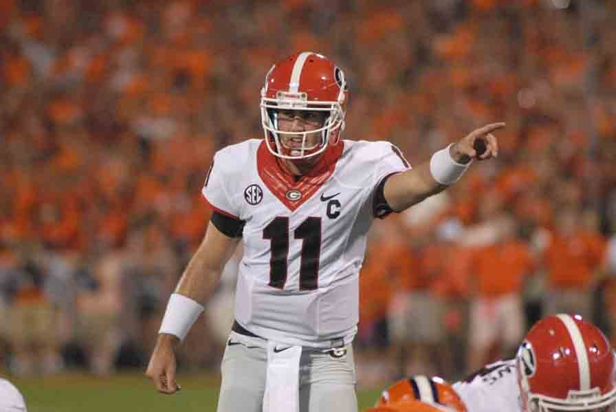 Georgia returns to action this week led by quarterback Aaron Murray, shown here in the season opening against Clemson. (Source: Georgia Athletics)