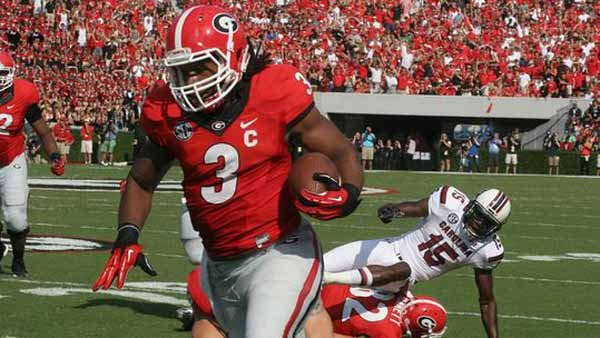 Georgia hasn't been the same since Todd Gurley suffered a bad ankle sprain. The word is he may be back in time for this weekend's Florida game. (Source: Georgia Athletics)