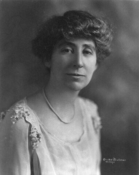 Jeanette Rankin, shown here, was the first woman e