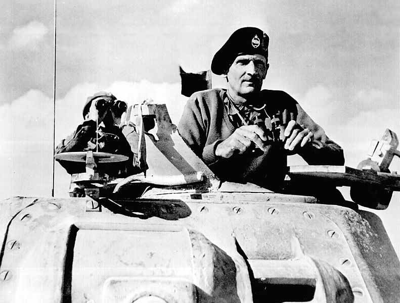 British Gen. Bernard Montgomery at the Second Battle of El Alamein in November 1942. (Source: Wikimedia Commons)