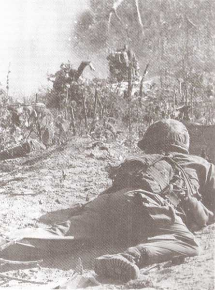 U.S. paratroopers under heavy fire during Operation Hump on Nov. 8, 1965. (Source: U.S. Army/Wikimedia Commons)