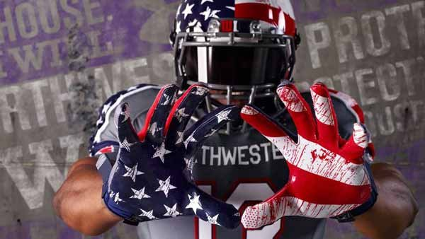 Northwestern will wear their Wounded Warrior uniforms in Saturday's game against Michigan. (Source: Northwestern Athletics/Facebook)