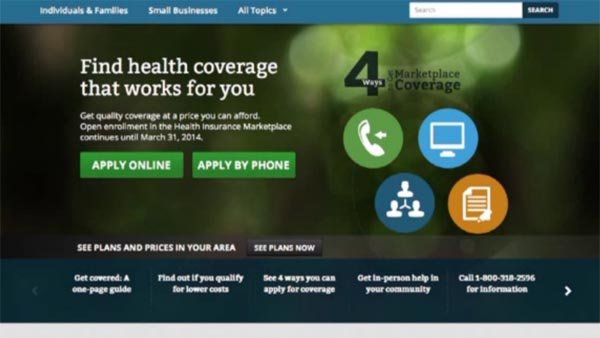 Obama administration wanted 800,000 people enrolled in the health care plan by the end of November. (Source: Healthcare.gov/CNN)