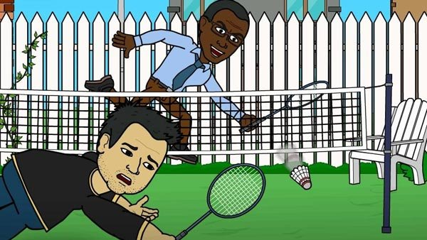 George finds Brian's only weakness - every sport that has ever been invented. (Source: Bitstrips/Facebook)