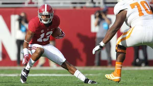 CB Deion Belue intercepted a pass in Alabama's romp of Tennessee earlier this year. LSU plans to attack the perimeter this week, coach Les Miles said. (Source: Alabama Athletics Communications)