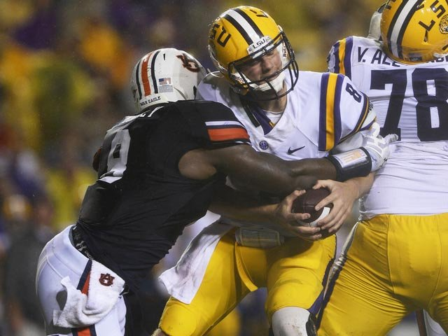 Zach Mettenberger has been the engine in LSU's offense this season, but he has sputtered recently. (Source: Todd Van Emst/Auburn Athletics)