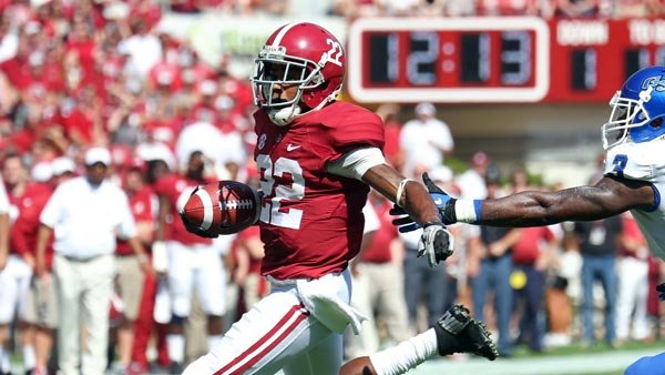 Christion Jones and the Crimson Tide shouldn't expect to run away from the Tigers, but that doesn't mean they won't. (Source: Alabama Athletic Communications)