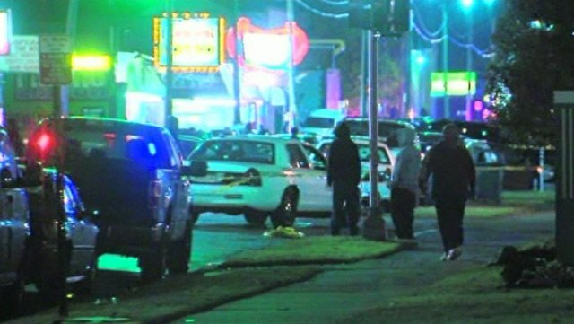Three people died and six others were injured from gunfire at an East Detroit barber shop Wednesday. (Source: WXYZ/CNN)