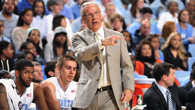 The Player Power Poll respectfully requests the name and contact information of Roy Williams' tailor. (Source: UNC Athletics)