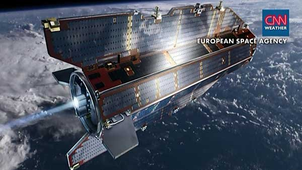 The Goce satellite is expected to come crashing to Earth by Sunday. (Source: CNN)