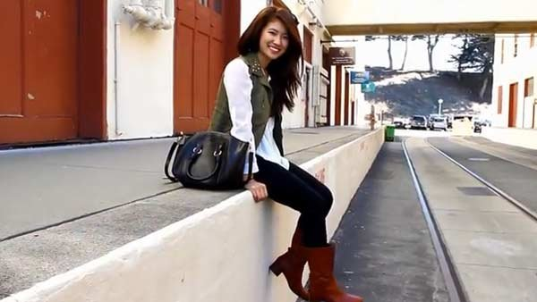 A vest and cute blouse can be paired with your favorite boots. (Source: Fashion By Ally/YouTube)