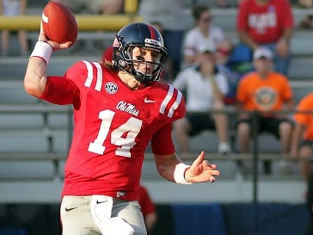 Bo Wallace's career-high passing day helped the Rebels lock up another conference win and bowl eligibility for the second straight season. (Source: Ole Miss Athletics)