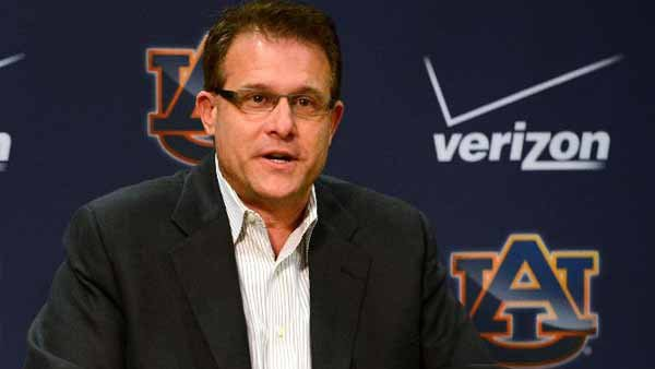 First-year Auburn head football coach Gus Malzahn can save college football by beating Alabama in the Iron Bowl, said a columnist for the Wall Street Journal. (Source: Todd Van Emst, Auburn Athletics)
