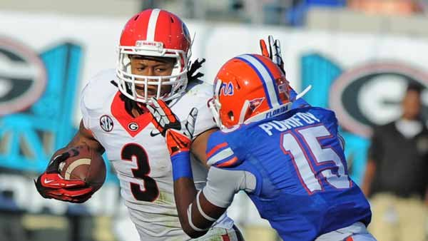 Todd Gurley recovered from an ankle injury enough to help Georgia get by Florida. He'll be healthy for the Auburn game. (Source:  John Kelley, UGA Athletics)